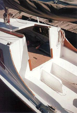 Mainsheet Cleat Moved To Transom Bridle